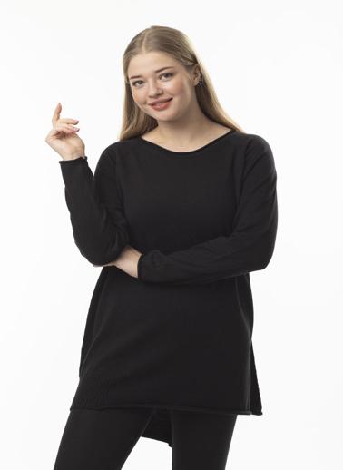 Stamina Büyük Beden Tunik Siyah